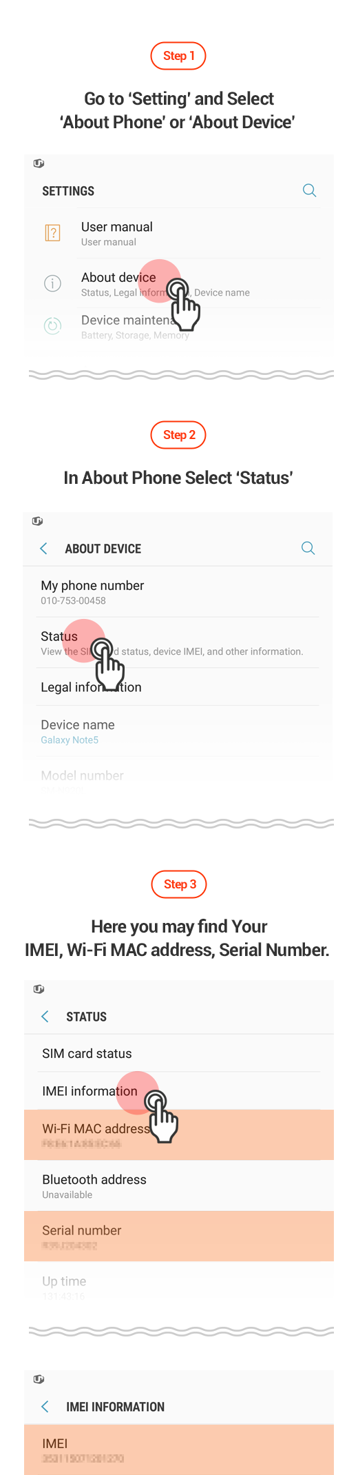 How to Check IMEI ,Wi-Fi MAC address,Serial Number on Your Android Phone
